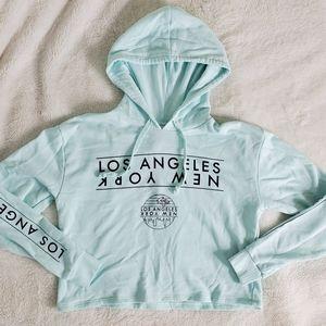 LA NY Cropped Hoodie